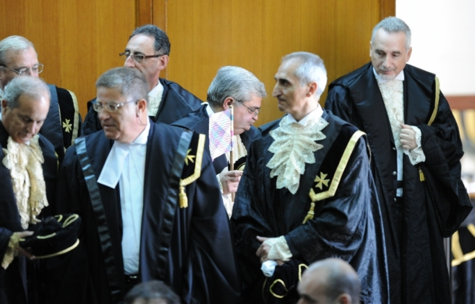 Judges convened for the start of the forensic year. Photo: Ray Attard