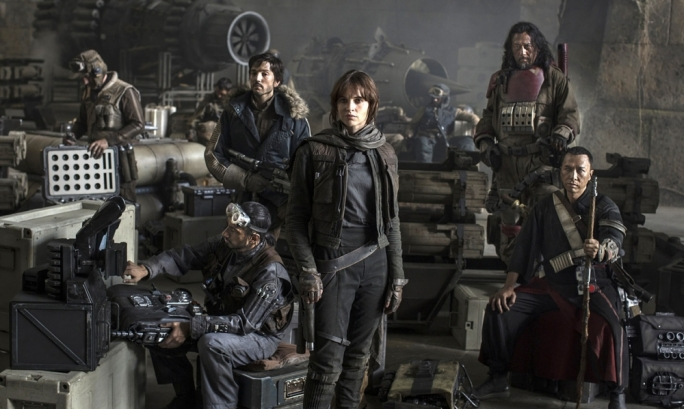 Space caper: Felicity Jones leads the pack in Star Wars: Rogue One