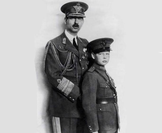 King Carol II and his son, later King Michael II of Romania