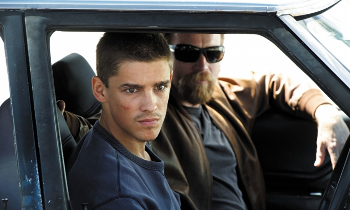 On the run: Brenton Thwaites and Ewan McGregor (back) fight the law, then themselves, in this Australian crime thriller