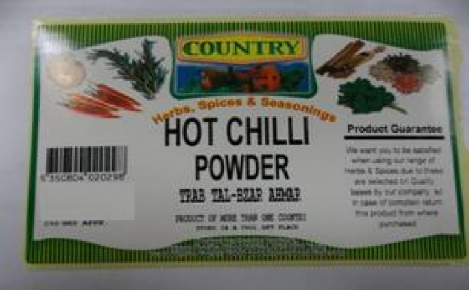 Health Directorate warns about potential peanut traces in chilli powder