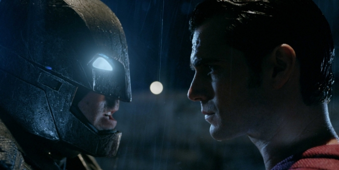 Head to head: Ben Affleck and Henry Cavill in Batman vs Superman: Dawn of Justice