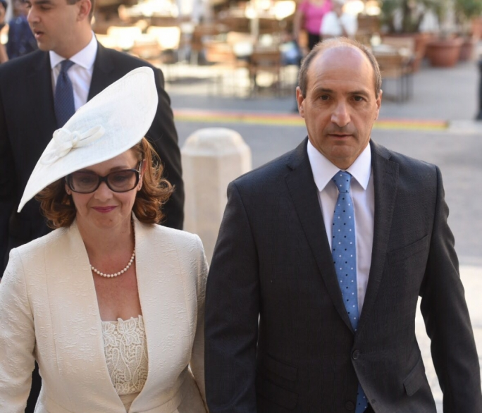 Health Minister Chris Fearne and his wife Astrid