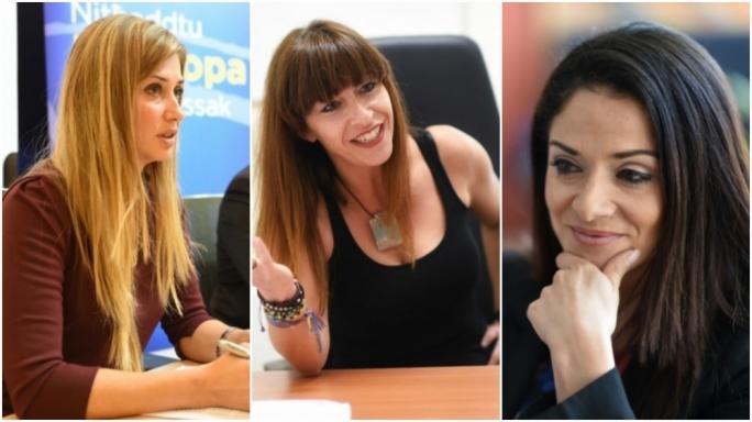 Roberta Lepre, Maria Pisani and Miriam Dalli