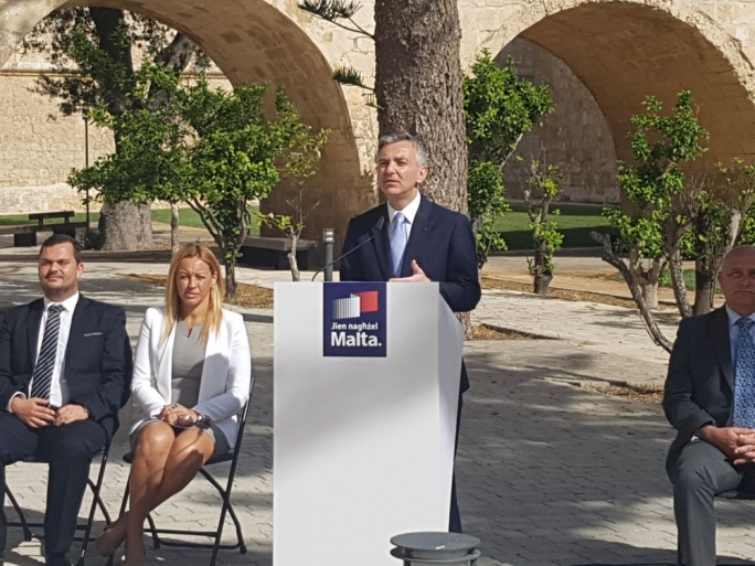 Nationalist Party leader Simon Busuttil addresses a press conference in Mdina (Photo: Chris Mangion/MediaToday)