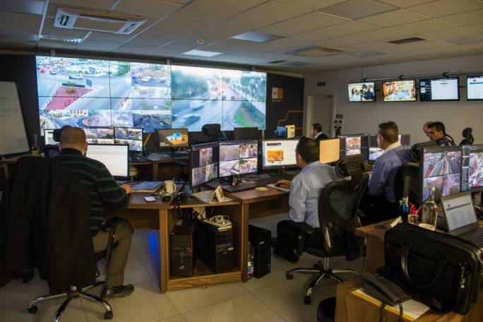 All hands on deck! Traffic controllers montitor traffic patterns at peak times throughout the day