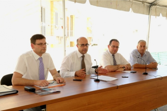 Minister Jason Azzopardi and Chris Said announcing the several schemes offered by the Housing Authority