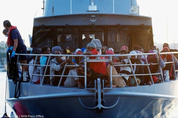 The Armed Forces has effected the rescue of 86 migrants. (Photo: Justin Gatt/AFM)