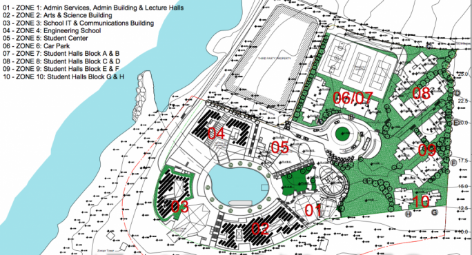 Plans for three of the proposed dormitory blocks on ODZ land at Zonqor
