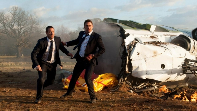 Crash! It's once again up to Gerard Butler (right) to save Aaron Eckhart's President Asher from an imminent threat