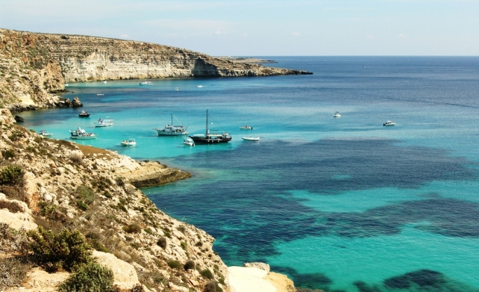 Lampedusa, one of the Pelagian Islands