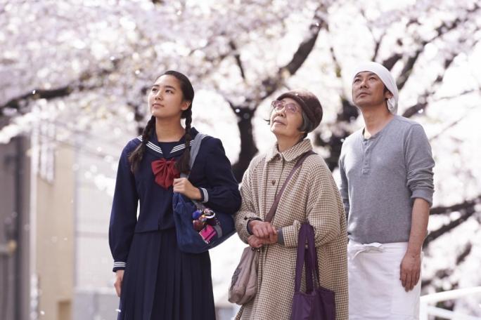 From left: Kyara Uchida, Kirin Kiki and Masatoshi Nagase in Naomi Kawase's 'An' – winner of Best Film at the Valletta Film Festival