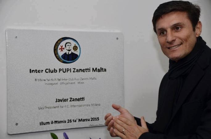Javier Zanetti at the opening of Inter Club Pupi Zanetti Malta. Photo by Charles Vassallo