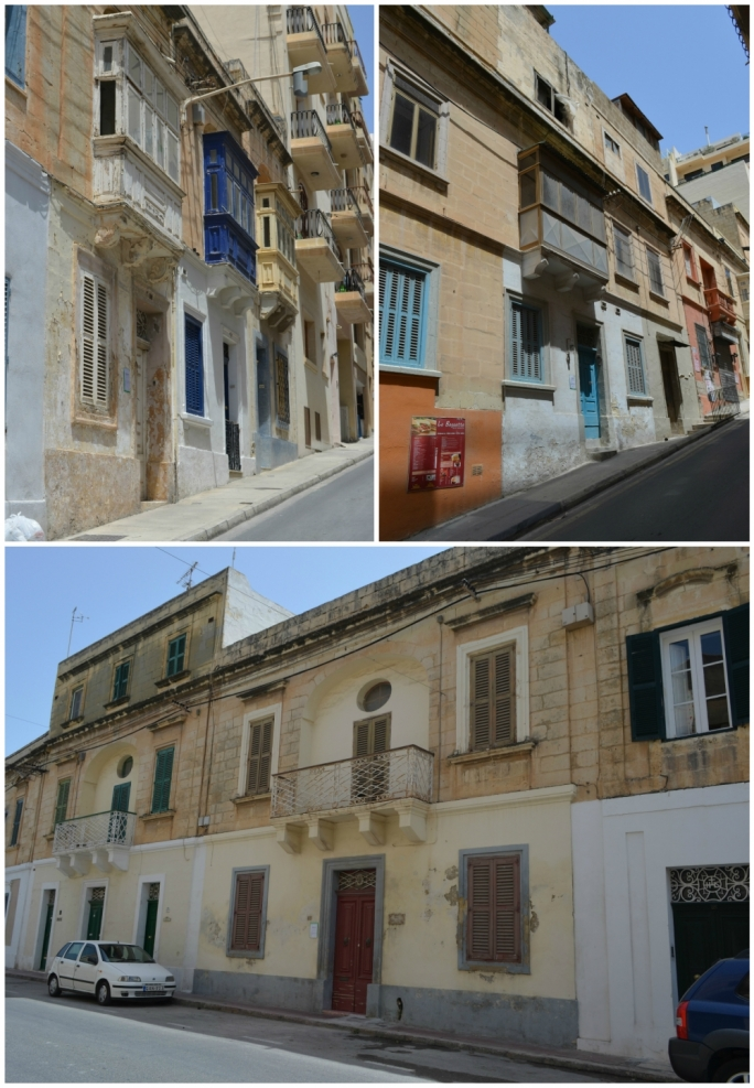 "Characteristic buildings outside UCAs (clockwise from left, Sacro Cuor Street, Markizi Zimmerman Barbaro Street, and Birkirkara Hill) face a greater threat because applications to build up to 16 apartments on such sites benefit from the new ""summary procedure"", shortening public consultation from three to two weeks and eliminating the need of a public hearing and a case officer report"