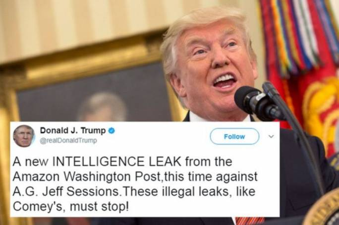 Trump has criticised the leaks, saying they must stop (Photo: EPA)