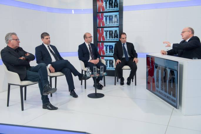 Tensions ran high during tonight's episode of Xtra as four political commentators looked back on 2017