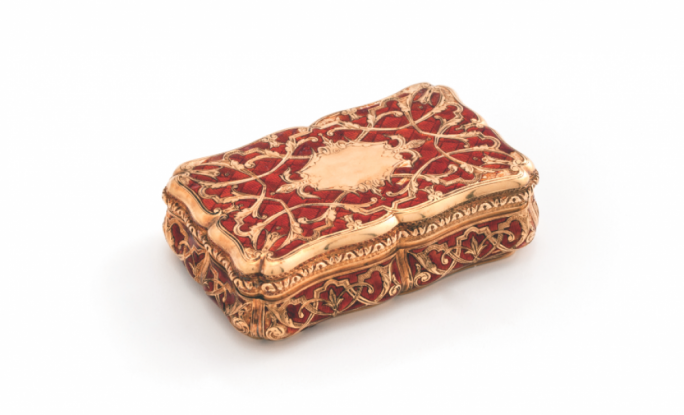 Table Snuff Box, Gold, Enamel, Possibly France, Mid to late 19th century –  National Museum of Fine Arts, Valletta – Heritage Malta
