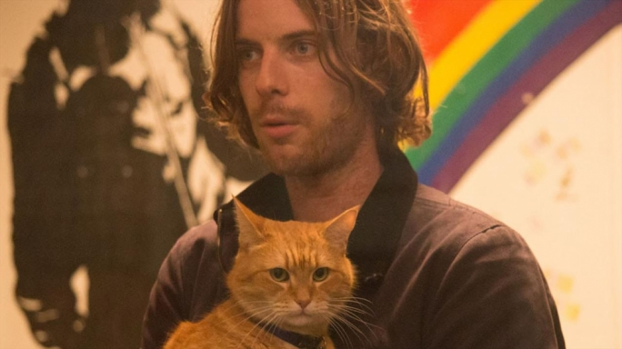 Luke Treadaway and 'Bob' take you on a heartwarming journey of a recovering drug addict's redemptive arc, via cat