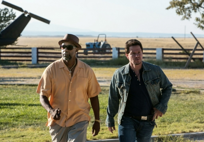 The action-comedy film 2 Guns starring Denzel Washington and Mark Wahlberg. © 2013 GEORGIA FILM FUND FIFTEEN, LLC AND UNIVERSAL PICTURES, A DIVISION OF UNIVERSAL CITY STUDIOS LLC.