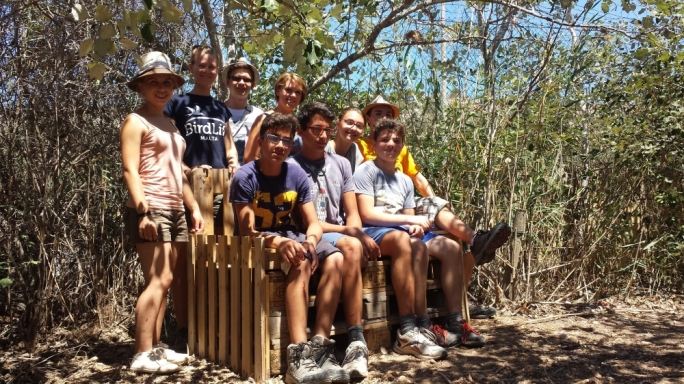 Over a week, the youths created seating areas with benches at Simar Nature Reserve