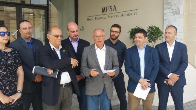 Alternattiva Demokratika press conference outside MFSA