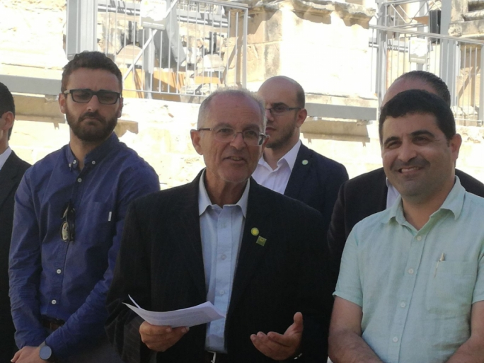 Prof. Arnold Cassola outlining his party's concerns on proposed tax cuts in Valletta today