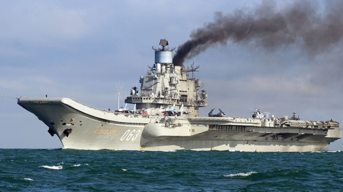 Malta's refusal to allow refuelling to the RFS Dubra before joining the Admiral Kuznetsov (pictured) was cited as a reason for possible Russian retaliation