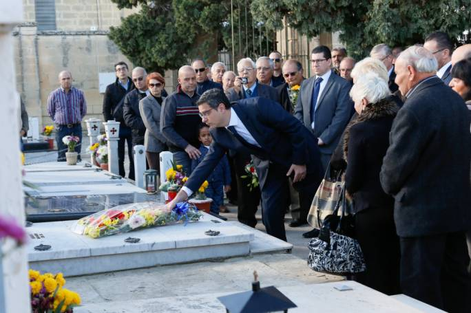 PN leader Adrian Delia during an activity commemorating the 31st anniversary of the murder of Raymond Caruana