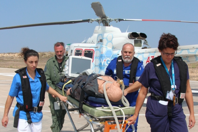A number of Gozo General Hospital medics are currently receiving training in preparation for the launch of the air ambulance service