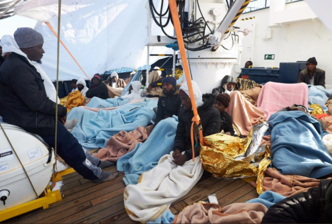 European Union  nations take in migrants rescued near Libya