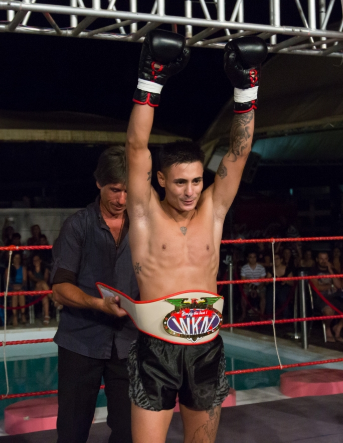 Keith 'The Speed' Azzopardi celebrating his win