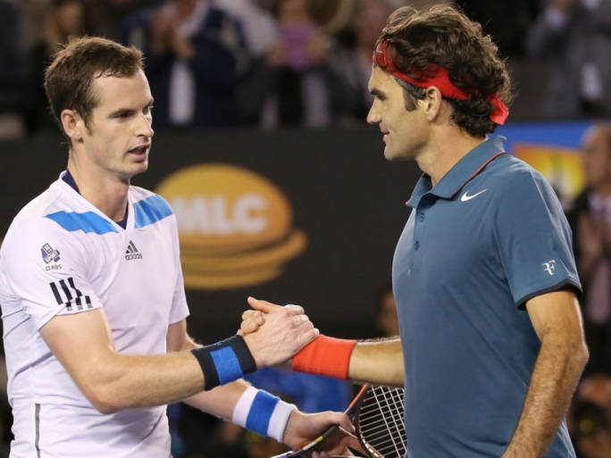 Andy Murray was defeated by Federer
