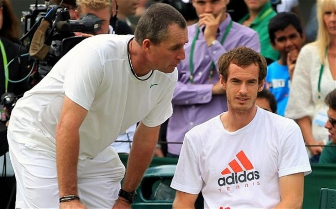 Andy Murray (seated) with Ivan Lendl