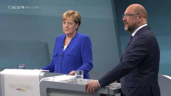 Angela Merkel leads as Martin Schulz fails to make inroads