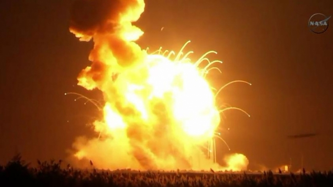 The explosion of the Antares rocket was captured live