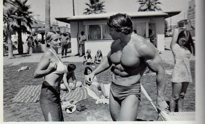 Pump is loosely based on the Venice Beach exploits of Schwarzenegger, when he was then known not as the Governator, but rather as the Austrian Oak.