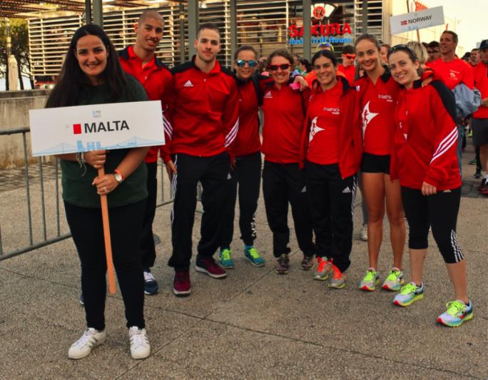 (from left to right) Shaun Galea, Neil Markham, Hannah Pace, Michelle Vella Wood, Danica Bonello Spiteri, Nina Zammit and Lara Buttigieg. Photo by Cyprian Dalli
