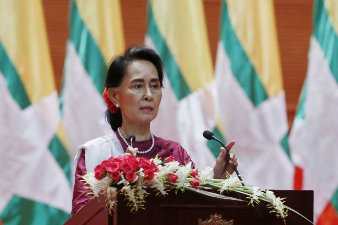 Myanmar leader Aung San Suu Kyi breaks her silence on the Myanmar Rohingya crisis (Photo: The Straits Times)