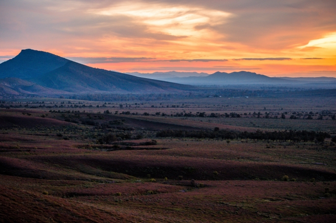 The Flinders Ranges is allegedly one of the oldest landscapes on the planet, with fossils from prehistory dotting the seabed between the mountains