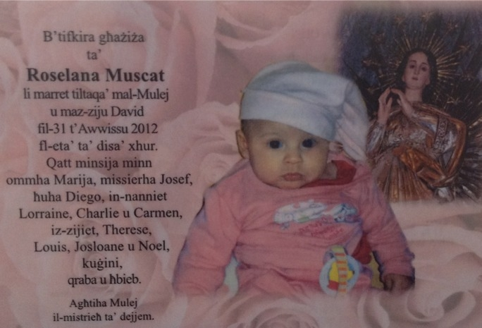 Baby Roselana was laid to rest today, four days after she tragically died.