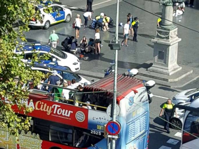 A widespread security operation is underway following a terrorist attack in Barcelona