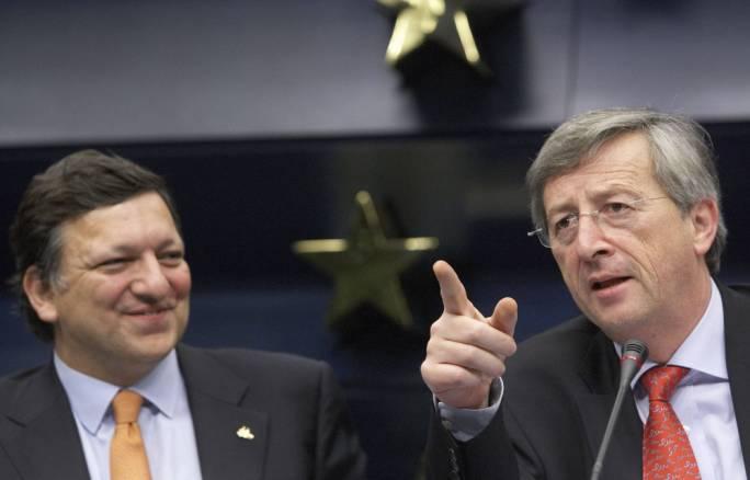 José Manuel Durão Barroso and Jean-Claude Juncker