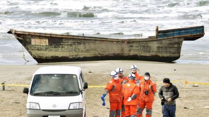 Eight bodies found in boat washed up on Japan beach