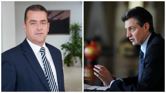 L-R: Beppe Fenech Adami and Konrad Mizzi