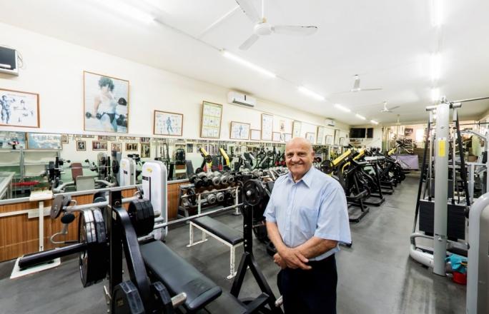 Bertu Camilleri in the main gym area