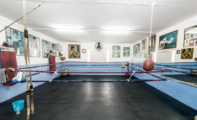 The boxing area