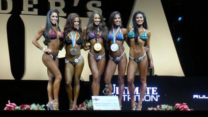 The top five of the 2016 Bikini Olympia