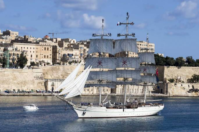 The Shabab Oman II is the flagship of the Royal Navy of Oman
