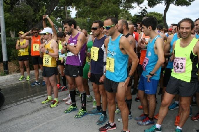 Athletes line up for the start of Malta International Challenge Marathon