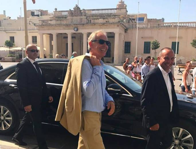 Tony Blair and his wife Cherie strolled around Valletta before heading to Mdina
